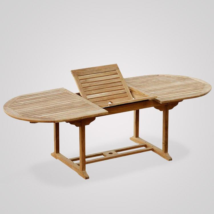 Teak Oval Extending Table Xx Cm Teak Crafter Furniture - Teak oval extending table